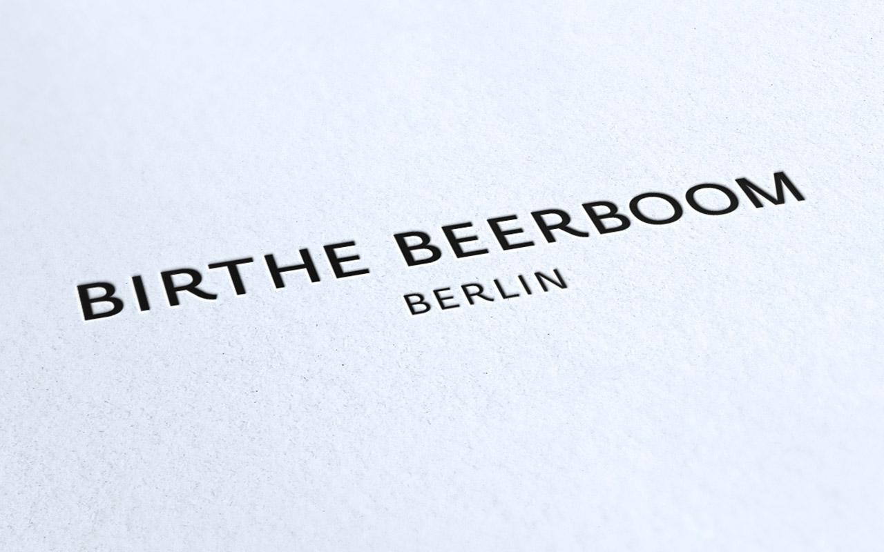 Logo als Letterpress